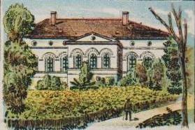 Gartenseite um 1904 (Postkarte)