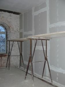 Trockenbauwand von Wohnungsseite aus