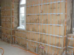 Wandflächenheizung