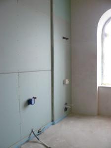 WC- und Badewannenvorwand