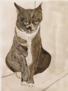 Tuschemalerei von Helmut Stoyan