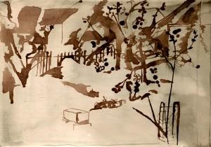 Tuschemalerei und Gedichte von Helmut Stoyan