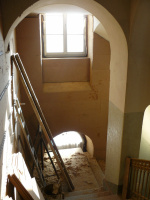 Treppenhaus mit Dämmplatten