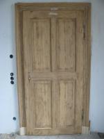 aufgearbeitete alte Holztür