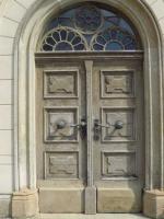 Haustür Außen vor der Restaurierung